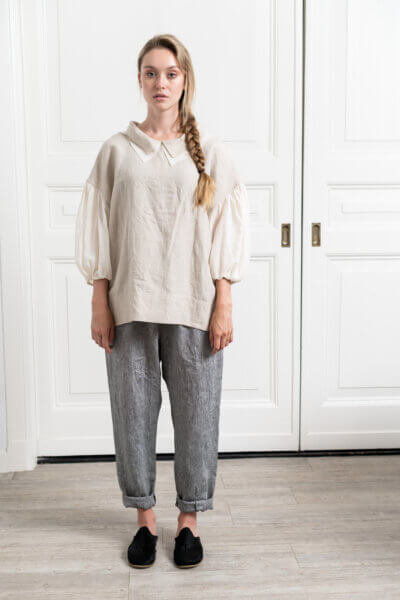 loose fit top in organic linen