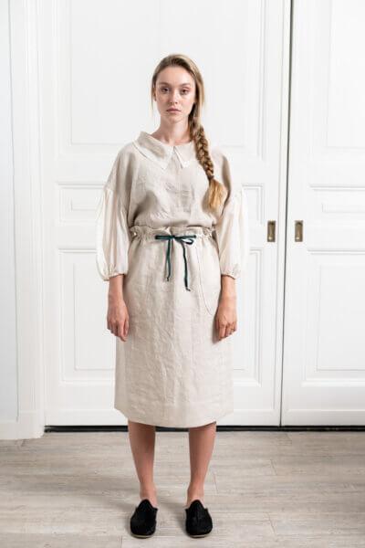 organic linen pencil skirt